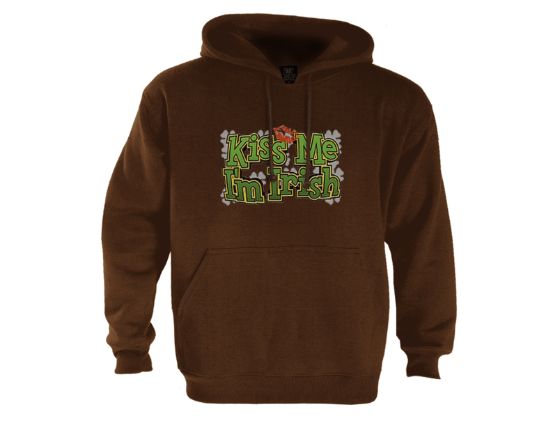 Kiss-Me-Im-Irish-Hoodie-drinking-funny-cool-lips