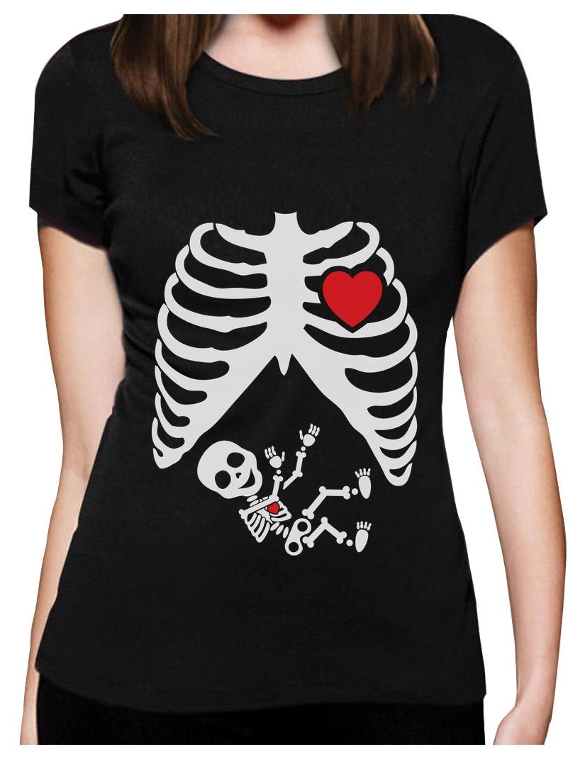 skelett baby witzig frauen t shirt gotik schwangerschaft