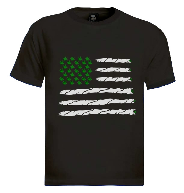 Weed american flag t shirt marijuana weed 420 just hit it for Just hip hop t shirt