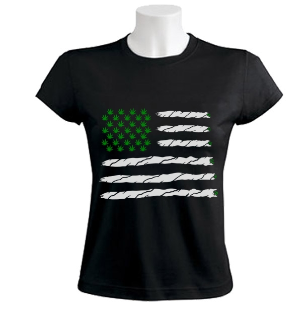 Weed american flag women t shirt marijuana weed 420 just for Just hip hop t shirt