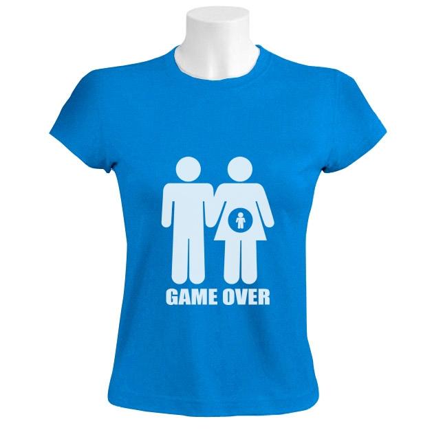 game over frauen t shirt parodie f r schwangere babyparty. Black Bedroom Furniture Sets. Home Design Ideas