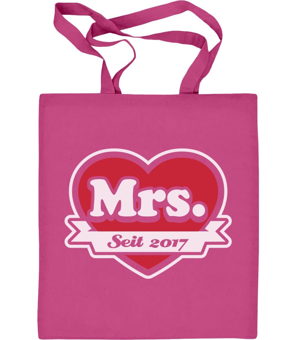 Geschenke für Paare - Mrs. seit 2017 Jutebeutel Baumwolltasche