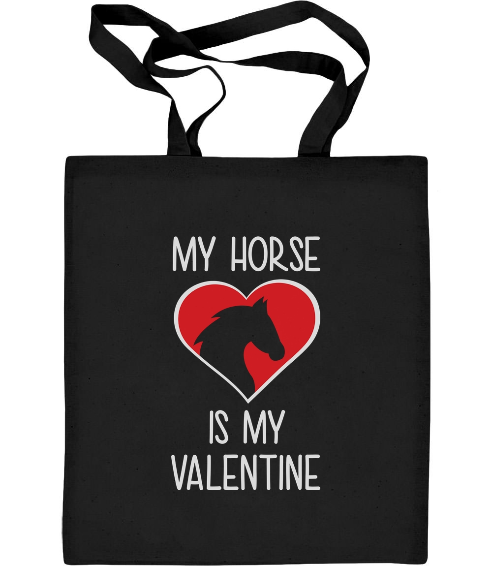 My Horse Is My Valentine Valentinstag Jutebeutel Baumwolltasche Geschenk Gift
