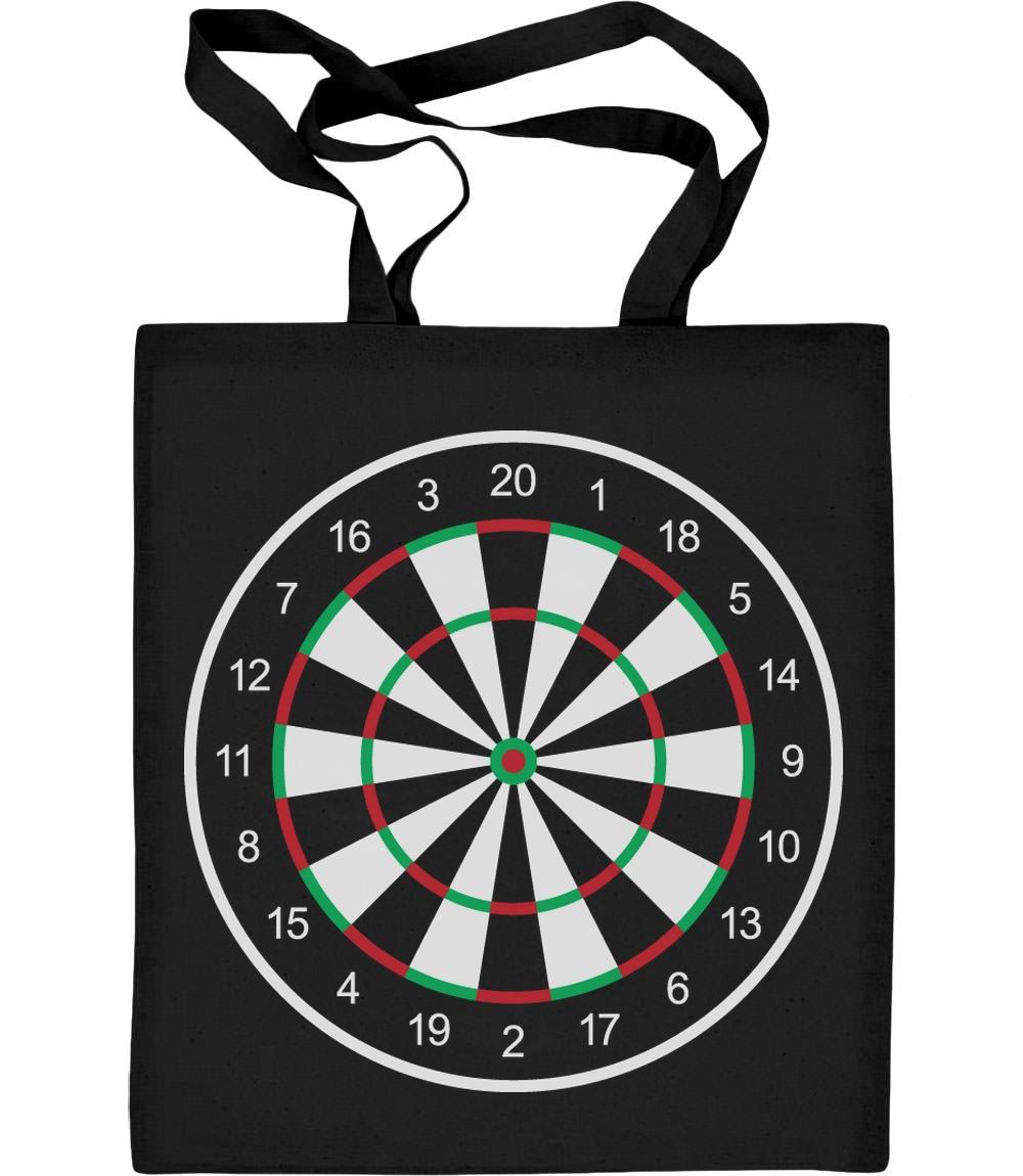 Sporty Fan Dartboard Design Jutebeutel Baumwolltasche Darts Dartboard Dartsport