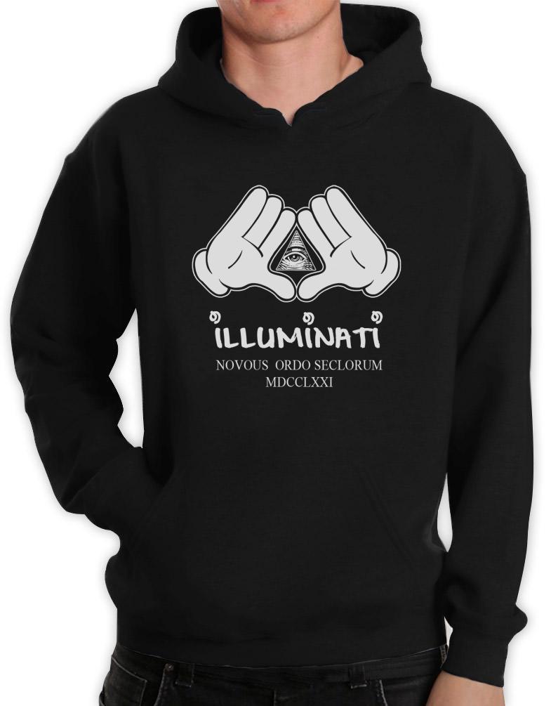 Illuminati hands hoodie obey cartoon z dope yolo mickey ebay