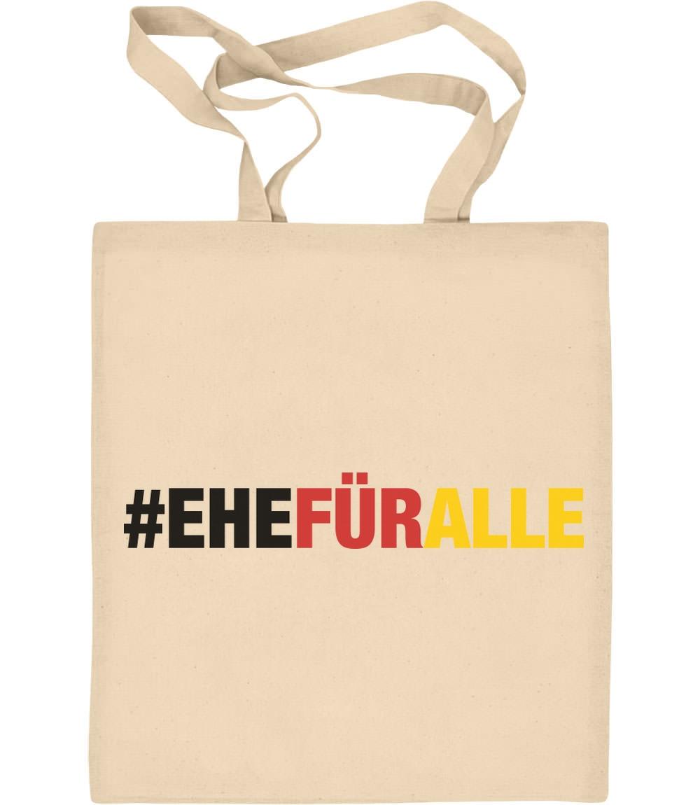 #EHEFÜRALLE - Ehe für alle, und zwar jetzt Jutebeutel Baumwolltasche LGBTQ