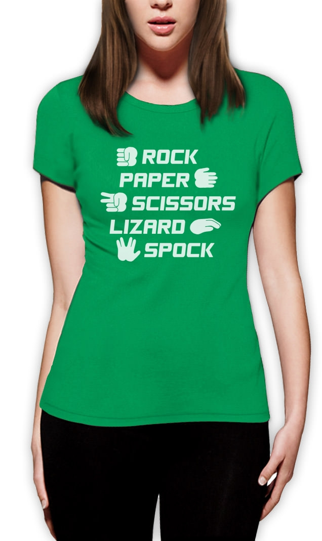 rock paper scissors t shirt Does what it says on the tin for all you rock fans out there and paper, scissors, rock fans too obviously.