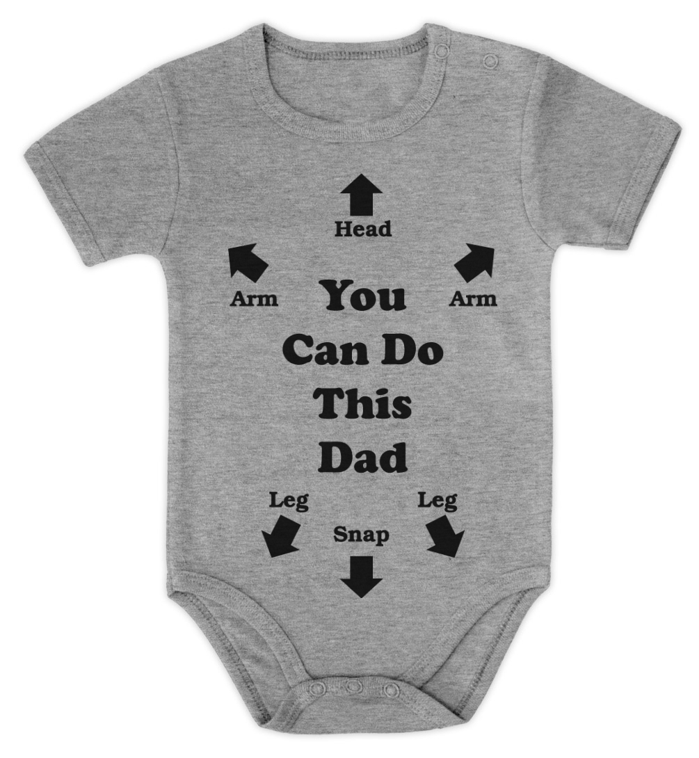 YOU CAN DO THIS DAD Baby Onesie Baby Shower Gift Instructions Dad ...