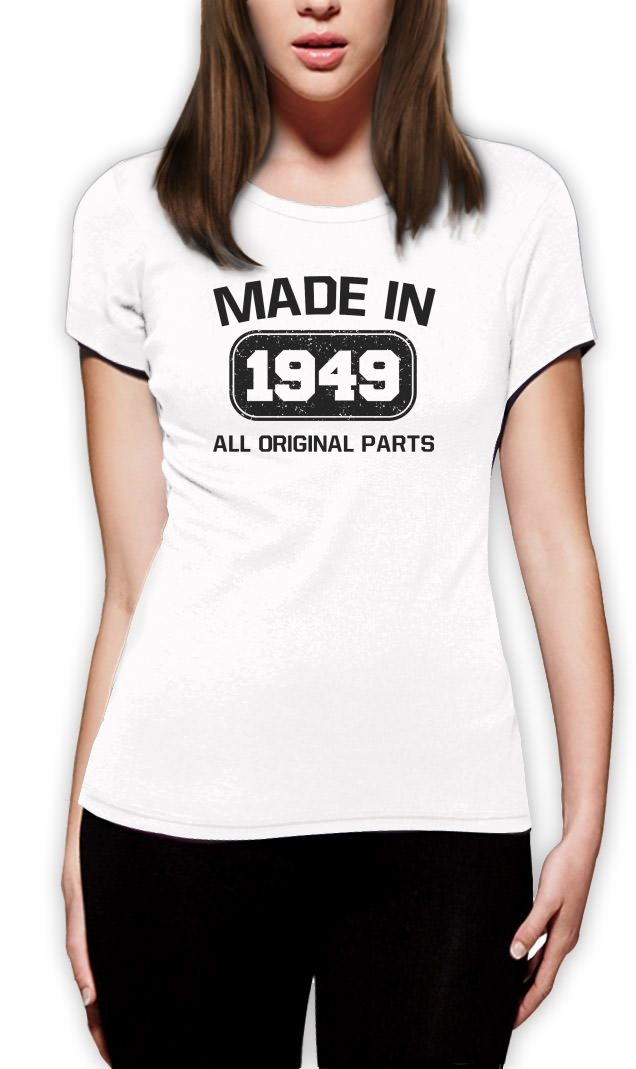 machte im jahr 1949 frauen t shirt 65 geburtstag lustige. Black Bedroom Furniture Sets. Home Design Ideas