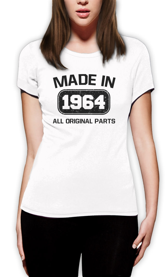 made in 1964 frauen t shirt 50 geburtstag geschenk idee fun top tee lustige ebay. Black Bedroom Furniture Sets. Home Design Ideas