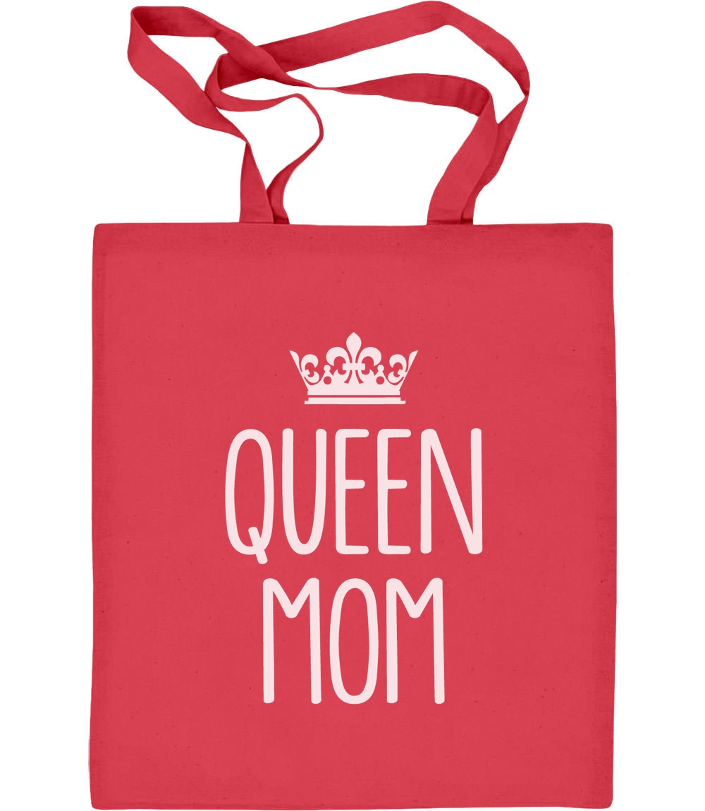 Gekrönte Geschenkidee - Queen Mom Jutebeutel Baumwolltasche