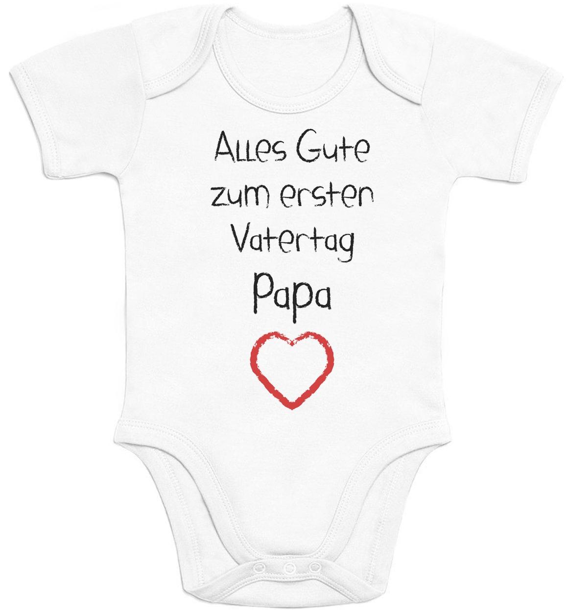 alles gute zum ersten vatertag papa herz love vater baby geschenk baby body mode ebay. Black Bedroom Furniture Sets. Home Design Ideas