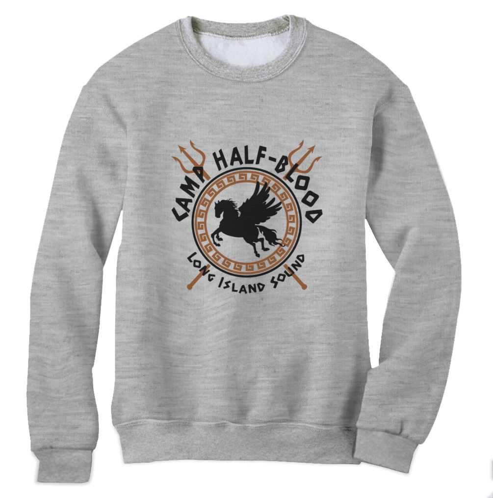 Camp half blood sweatshirt pegasus percy jackson sci fi crewneck