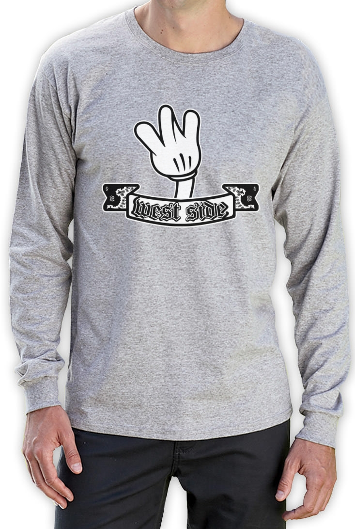 West Side Cartoon Hands Long Sleeve T Shirt Coast Mickey