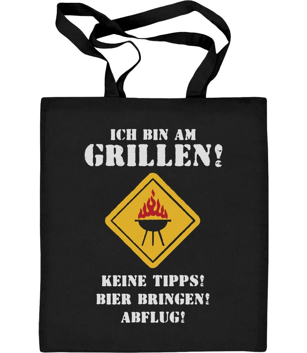 Coole Grillschürze mit Spruch - Ich Bin A Jutebeutel Baumwolltasche