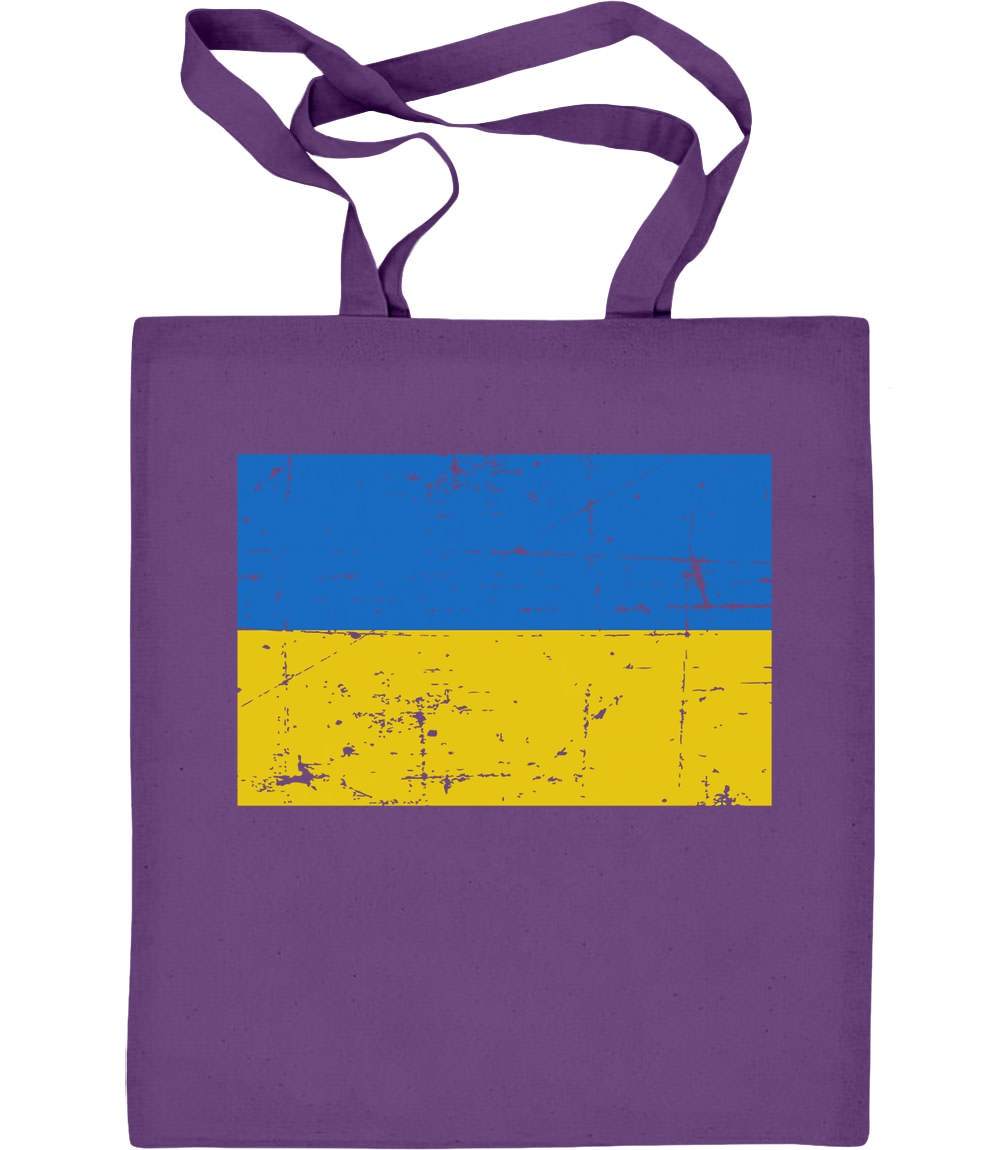 Ukrainische Flagge Fanshirt Fahne Jutebeutel Baumwolltasche Fußball Olympiade