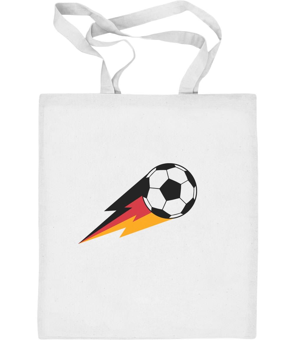 Feuer Ball Deutschland Shirt Fussball Fanshirt Jutebeutel Baumwolltasche EM