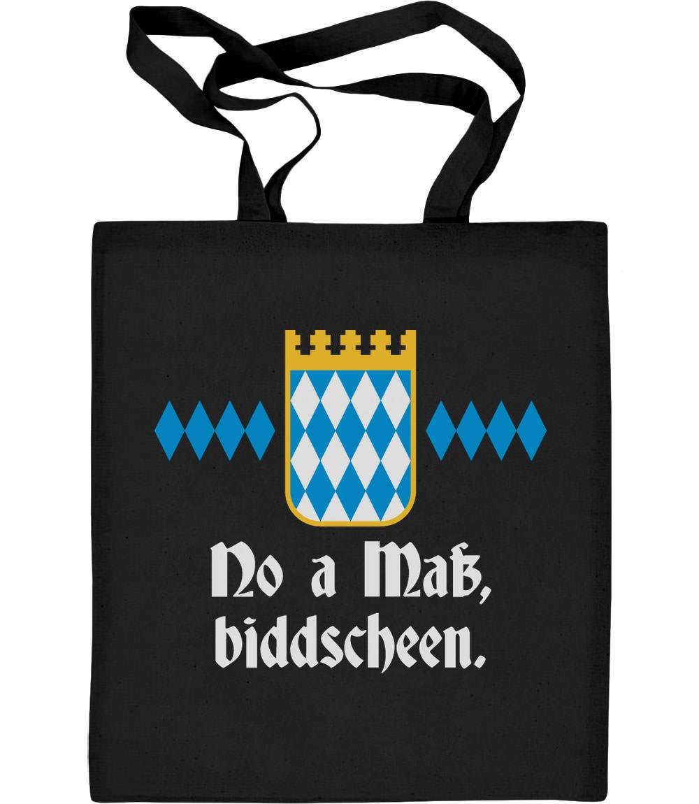 No A Mass Biddscheen - Wiesn Design Spruch Oktoberfest Jutebeutel Baumwolltasche