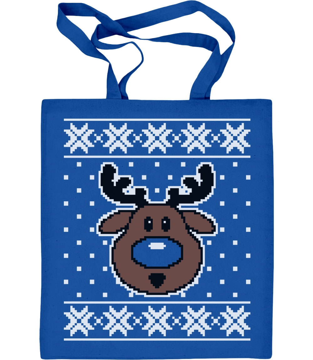 Hässliche Weihnachtstasche Rudolph Rudolf Rentier Jutebeutel Baumwolltasche
