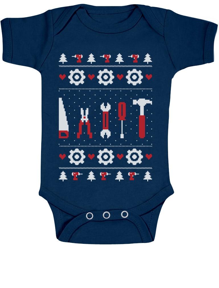 Cute-Infants-Toolbox-Ugly-Christmas-Sweater-Bodysuit-Baby-Onesie-Xmas-Gift