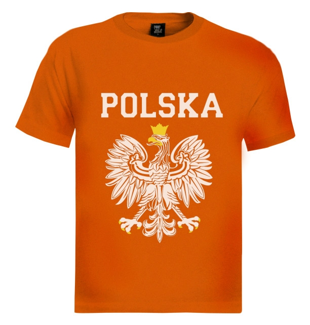 POLSKA-EST-WHITE-EAGLE-CREST-T-Shirt-poland-polish-flag-pride-Football-Fan
