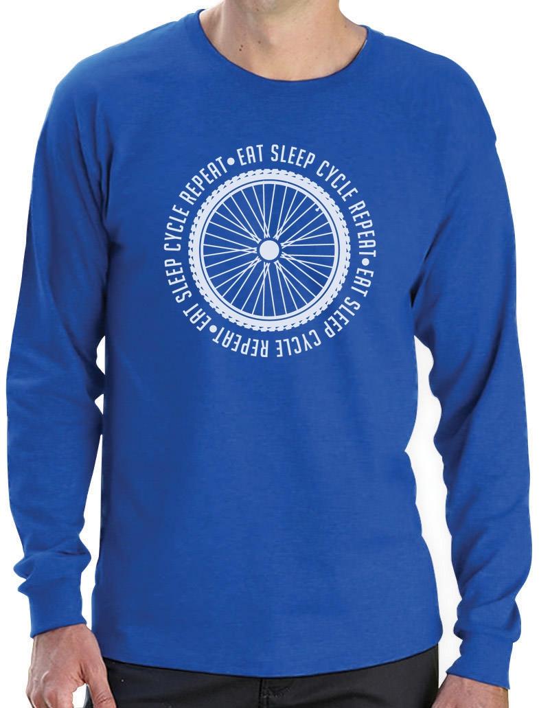 Eat Sleep Cycle Repeat - Cycling Bike Cool Long Sleeve T-Shirt ...