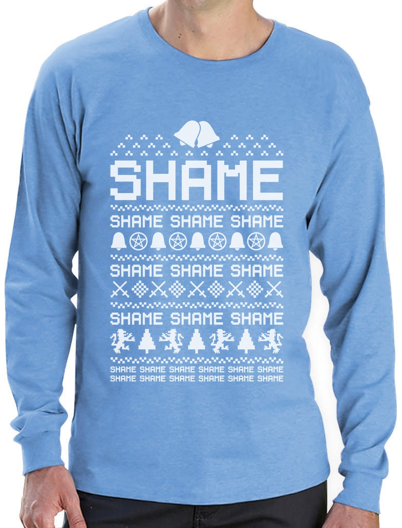 Cersei Walk Of Shame Funny Ugly Christmas Sweater Long
