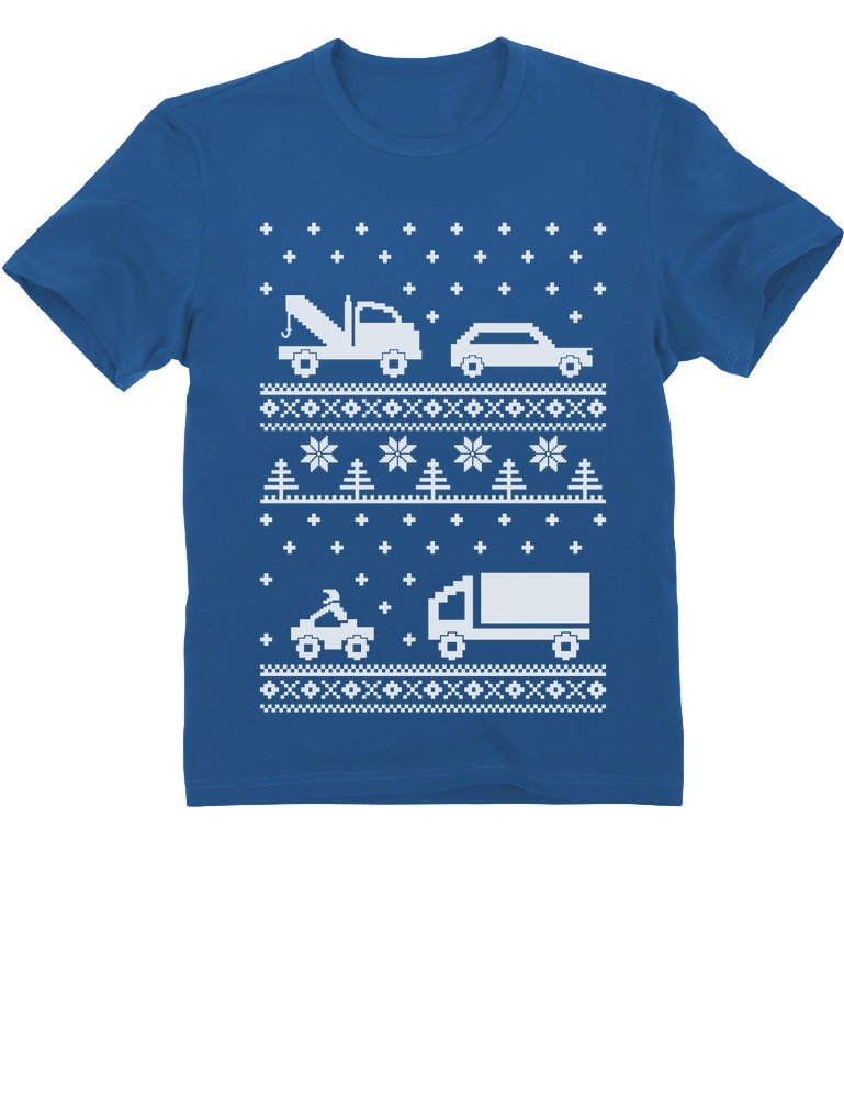 Xmas Children Clothing - Cars Ugly Christmas Sweater Kids T-Shirt ...