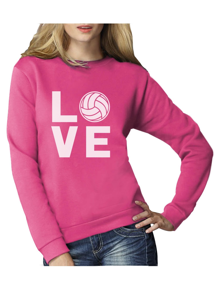 love volleyball sportlicher geschenk pullover f r freunde frauen sweatshirt ebay. Black Bedroom Furniture Sets. Home Design Ideas