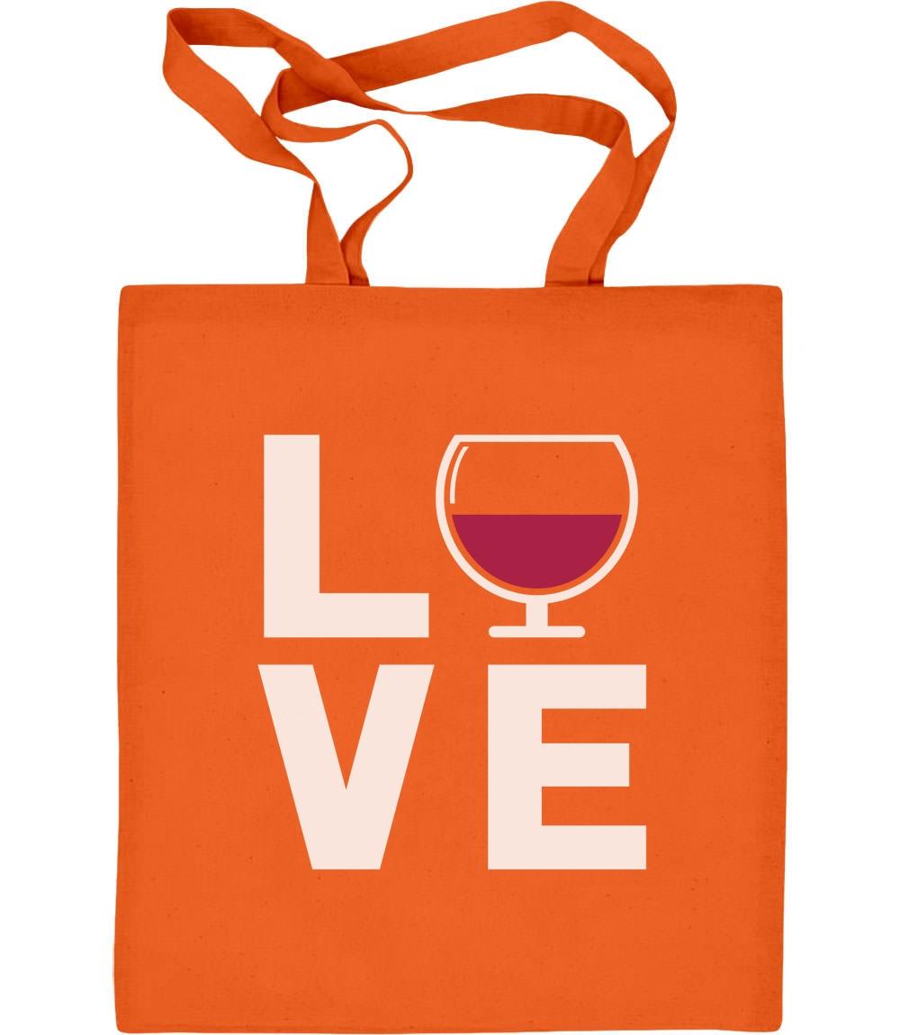 Love Wine - Geschenkidee für Wein - Fans Jutebeutel Baumwolltasche Wein