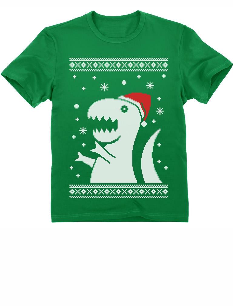 Big Trex Santa Ugly Christmas Sweater - Children Funny Kids T ...