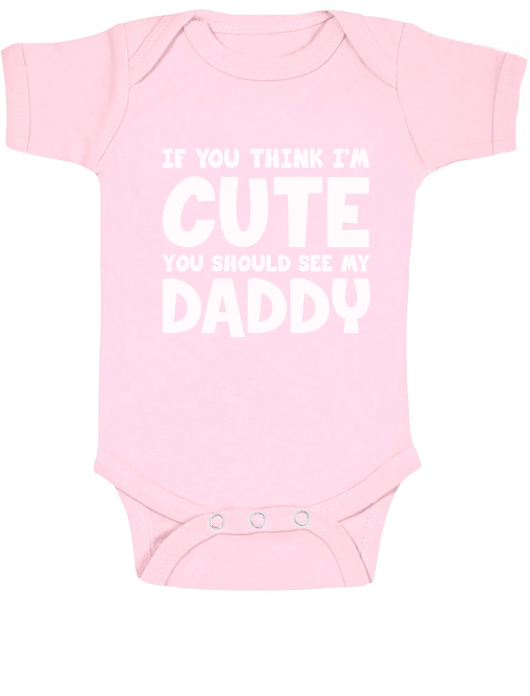 cute you should see my daddy baby onesie shower gift idea body ebay