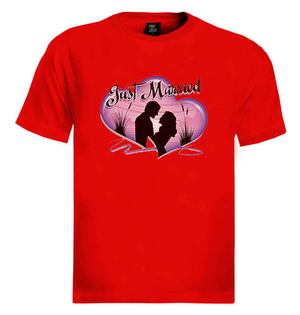Just Married T Shirt Love Funny Wedding Game Over Ebay