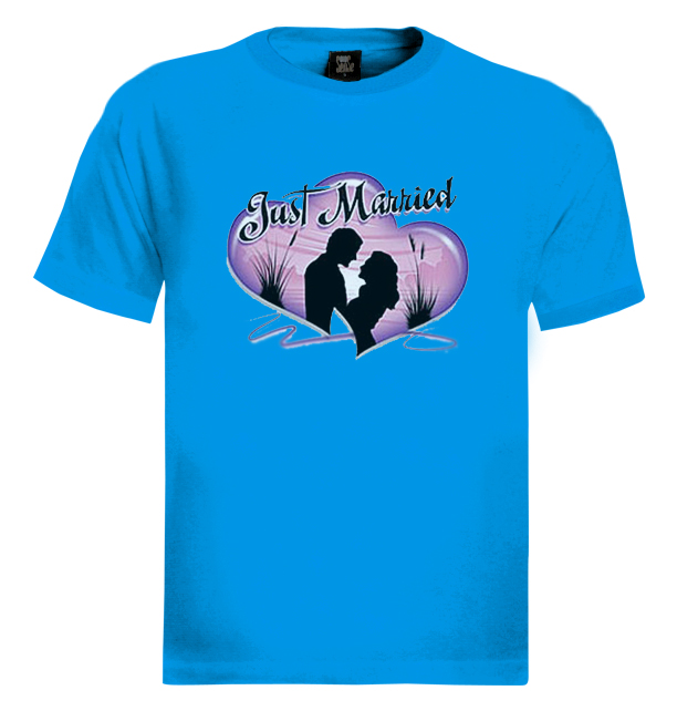 Just married t shirt love funny wedding game over ebay for Funny getting married shirts