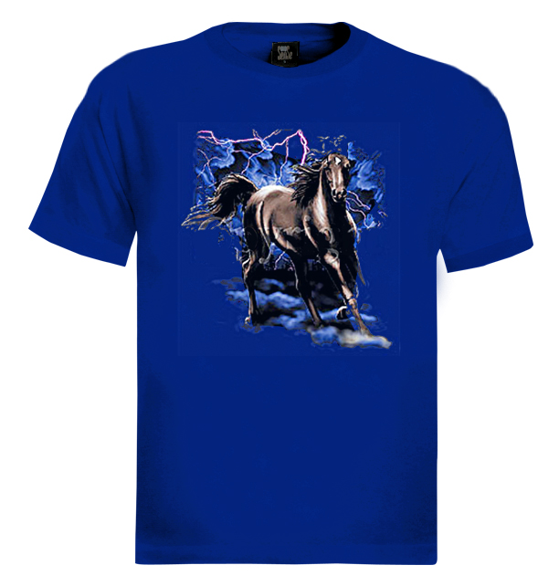 Magical-Horse-T-Shirt-lightning-magic-unique-mustang