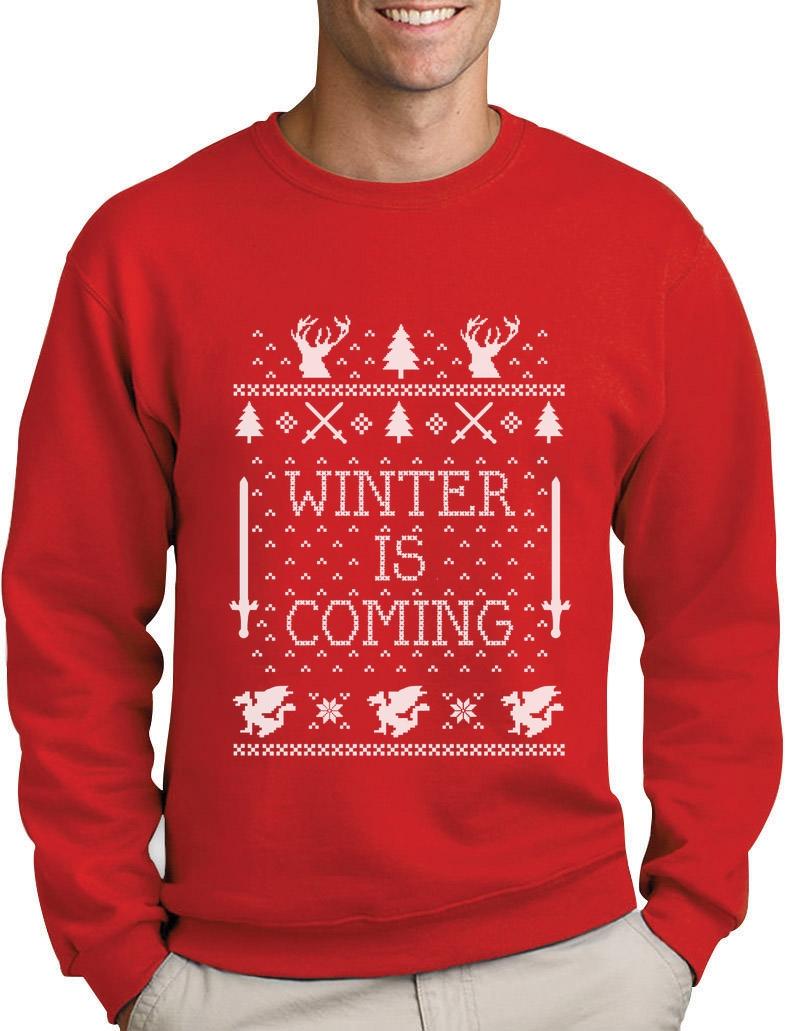 winter is coming herren sweatshirt pullover thrones game. Black Bedroom Furniture Sets. Home Design Ideas