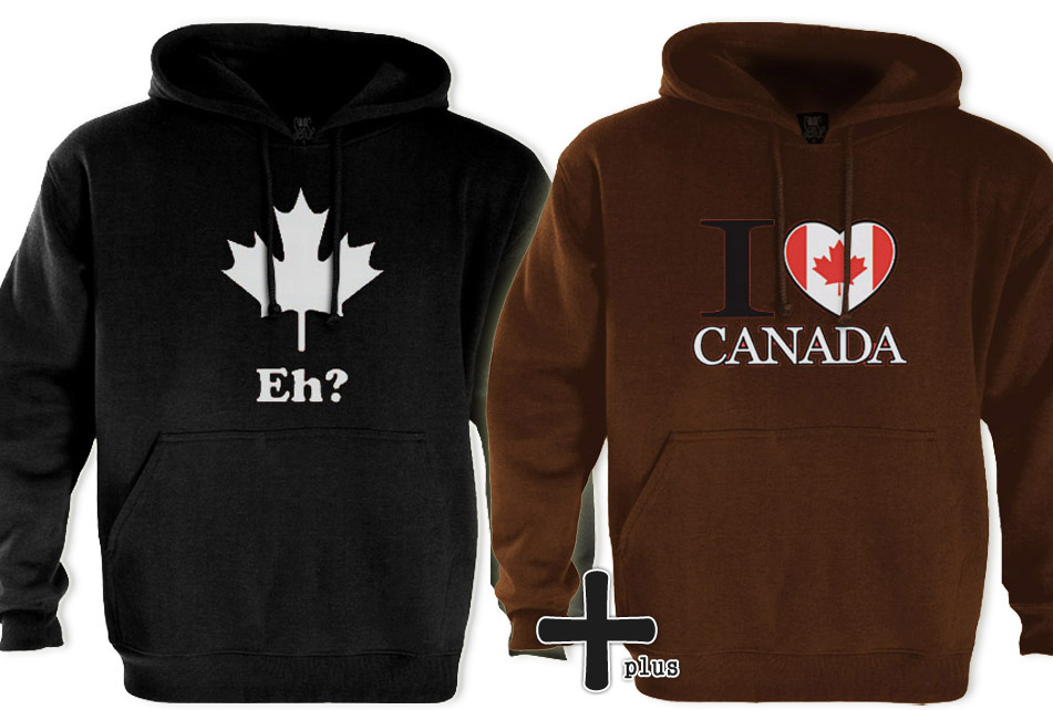2-Canada-Hoodies-Leaf-canadian-flag-love-crest-lot-new